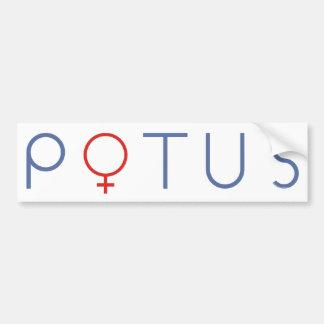Pegatina para el parachoques POTUS 2016 de Hillary Pegatina Para Auto