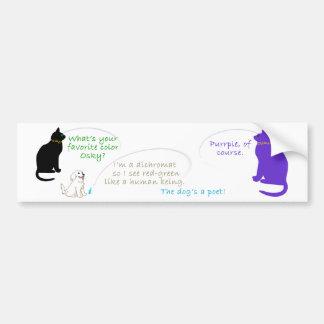 Pegatina para el parachoques preferida del color etiqueta de parachoque
