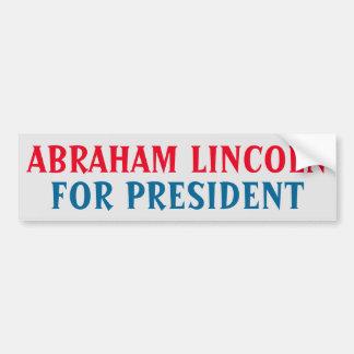 Pegatina para el parachoques presidencial: Abraham Pegatina Para Auto