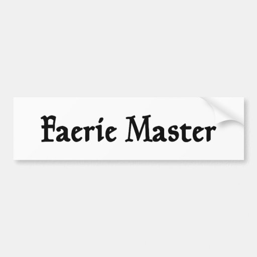 Pegatina para el parachoques principal del Faerie Etiqueta De Parachoque