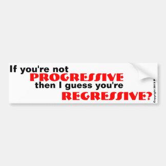 Pegatina para el parachoques progresiva o regresiv etiqueta de parachoque
