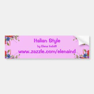 Pegatina para el parachoques promocional floral de pegatina para auto