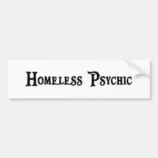Pegatina para el parachoques psíquica sin hogar pegatina de parachoque