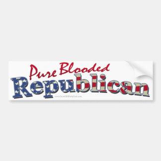 Pegatina para el parachoques pura del republicano  pegatina de parachoque