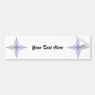 Pegatina para el parachoques púrpura de la estrell etiqueta de parachoque