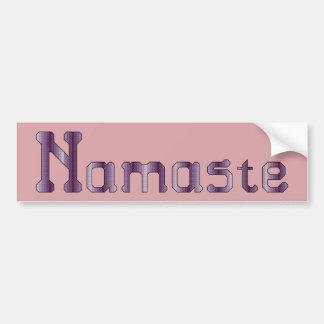 Pegatina para el parachoques púrpura de Namaste Etiqueta De Parachoque
