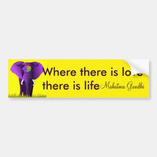 Pegatina para el parachoques púrpura del elefante pegatina para auto