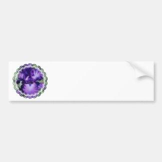 Pegatina para el parachoques púrpura del iris barb etiqueta de parachoque