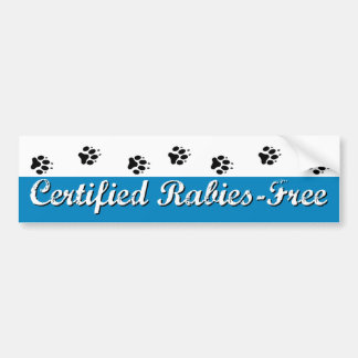 Pegatina para el parachoques Rabia-Libre certifica Pegatina Para Auto