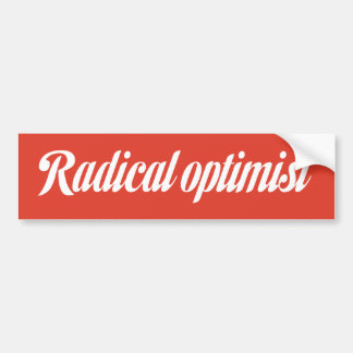 Pegatina para el parachoques radical del optimista pegatina para auto