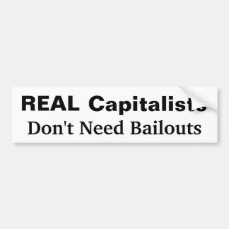 Pegatina para el parachoques real de los capitalis pegatina de parachoque