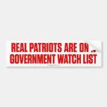 Pegatina para el parachoques real de los patriotas etiqueta de parachoque