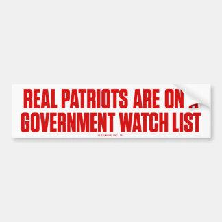 Pegatina para el parachoques real de los patriotas pegatina de parachoque