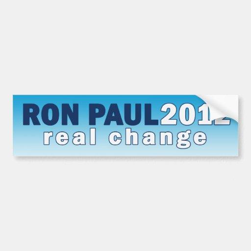Pegatina para el parachoques real del cambio de RO Pegatina De Parachoque