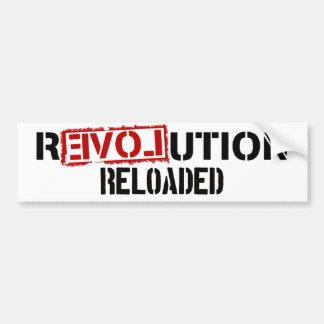 Pegatina para el parachoques recargada revolución pegatina para auto