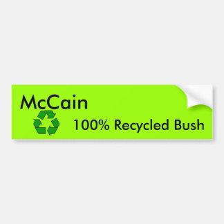 Pegatina para el parachoques reciclada de Bush Pegatina Para Auto