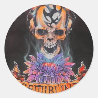Pegatina para el parachoques redonda del logotipo