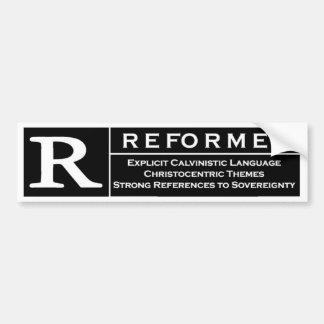 Pegatina para el parachoques reformada etiqueta de parachoque