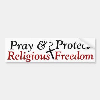 Pegatina para el parachoques religiosa de la liber etiqueta de parachoque