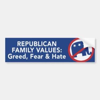 Pegatina para el parachoques republicana anti pegatina para auto
