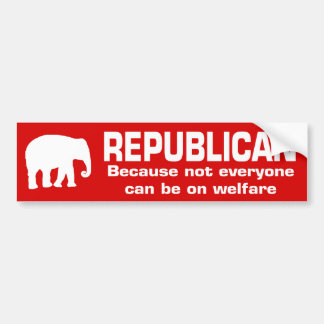 Pegatina para el parachoques republicana divertida etiqueta de parachoque