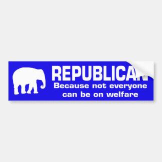 Pegatina para el parachoques republicana divertida pegatina para auto