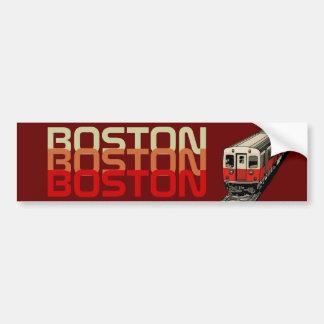 Pegatina para el parachoques retra de Boston Pegatina De Parachoque