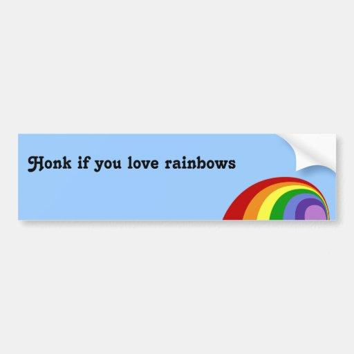 Pegatina para el parachoques retra del arco iris etiqueta de parachoque