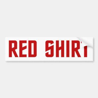 Pegatina para el parachoques roja de la camisa pegatina para auto