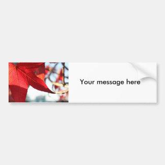 Pegatina para el parachoques roja de la hoja de ar pegatina de parachoque