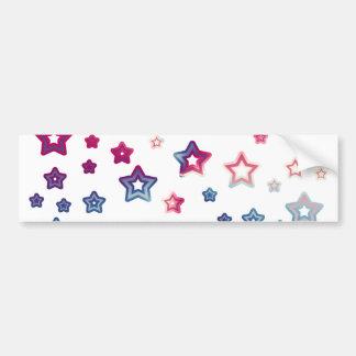 Pegatina para el parachoques roja de las estrellas pegatina de parachoque