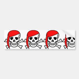 Pegatina para el parachoques roja del cráneo del pegatina para auto