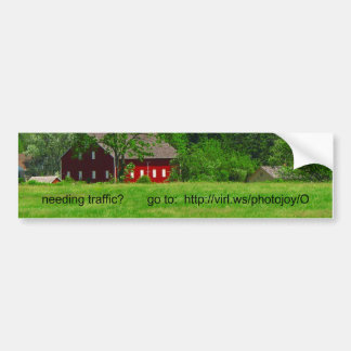 Pegatina para el parachoques roja del granero pegatina para auto