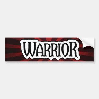 Pegatina para el parachoques roja del guerrero de etiqueta de parachoque
