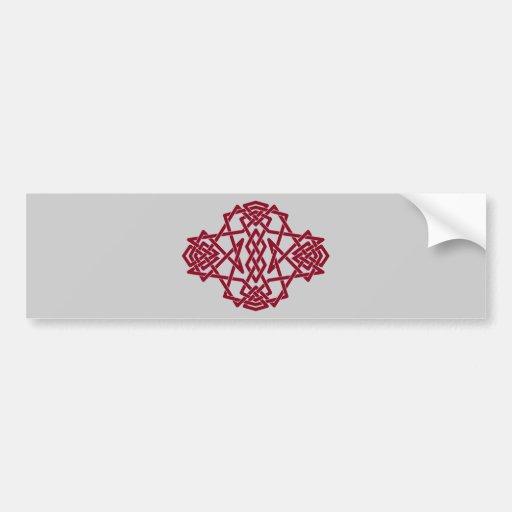 Pegatina para el parachoques roja del nudo pegatina de parachoque