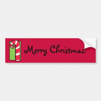 Pegatina para el parachoques roja rizada del navid pegatina para auto