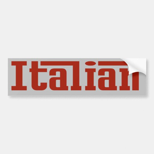 Pegatina para el parachoques roja y gris italiana etiqueta de parachoque