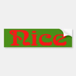 Pegatina para el parachoques roja y verde agradabl pegatina para auto