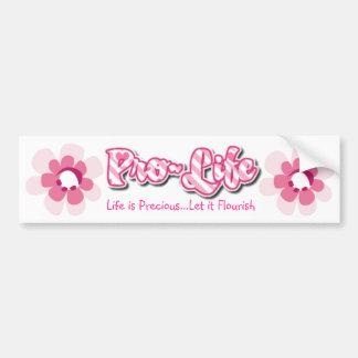 Pegatina para el parachoques rosada antiabortista  etiqueta de parachoque