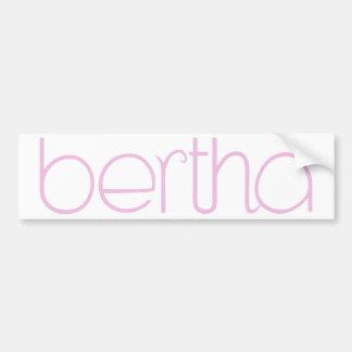 Pegatina para el parachoques rosada de Bertha Pegatina Para Auto