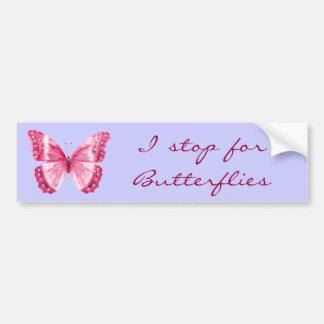 Pegatina para el parachoques rosada de la mariposa pegatina para auto