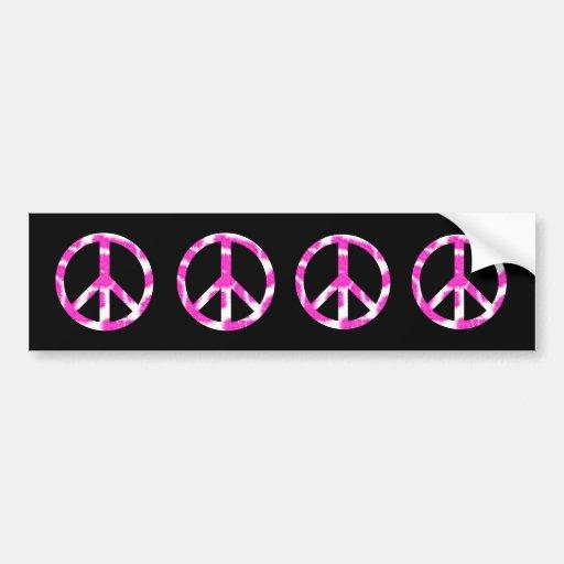 Pegatina para el parachoques rosada de la paz pegatina para auto