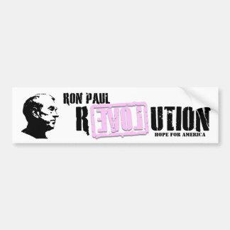 Pegatina para el parachoques (rosada) de la revolu pegatina para auto