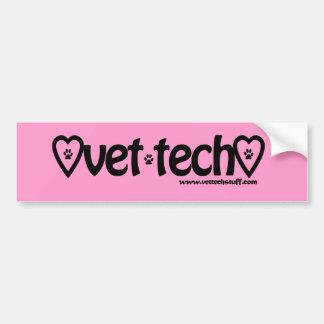 pegatina para el parachoques rosada de la tecnolog etiqueta de parachoque