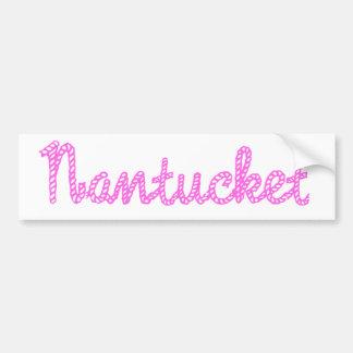 Pegatina para el parachoques rosada de Nantucket Pegatina De Parachoque