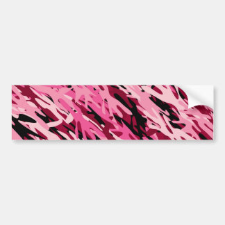 Pegatina para el parachoques rosada del camuflaje pegatina de parachoque