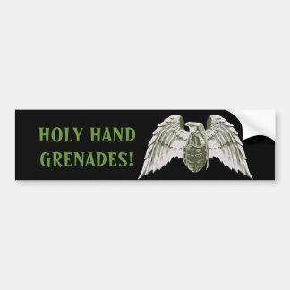 Pegatina para el parachoques santa de las granadas pegatina de parachoque