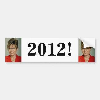Pegatina para el parachoques: Sarah Palin 2012 Pegatina Para Auto