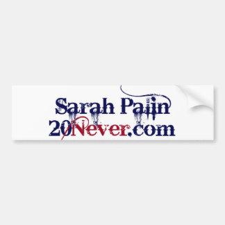 Pegatina para el parachoques - Sarah Palin 20Never Pegatina Para Auto