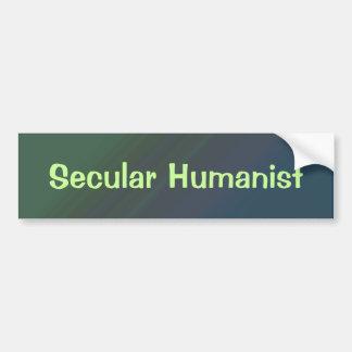 Pegatina para el parachoques secular del humanista pegatina de parachoque